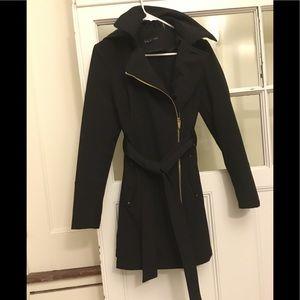 Via Spiga black water-resistant belted coat